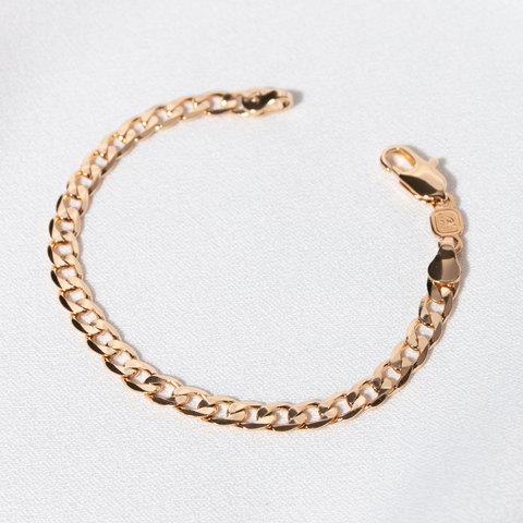 Браслет тонкого панцирного плетения 5мм (золотистый)