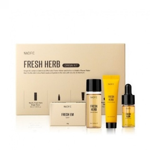 Nacific Fresh Herb Origin Kit набор миниатюр с экстрактом календулы