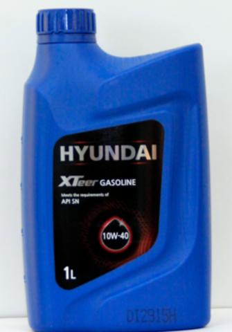 HYUNDAI XTEER GASOLINE 10W40 SN/GF-5  Масло моторное (пластик/Корея)