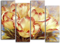 """Модульная картина """"Желтые тюльпаны"""""""