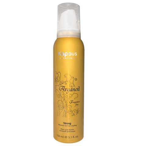Мусс для укладки волос нормальной фиксации с маслом арганы,KAPOUS ARGANOIL, 150 мл.