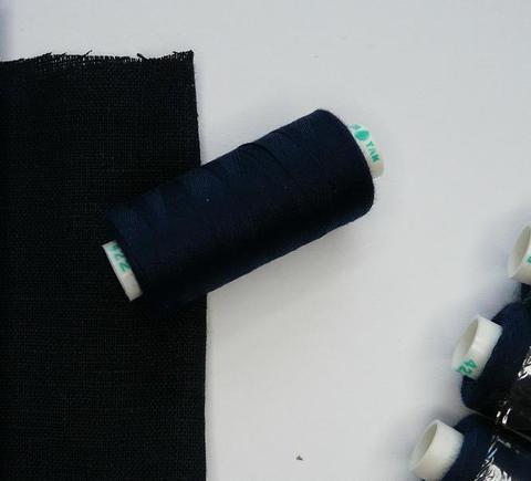 Нитки Dor Tak 422, черно-синий