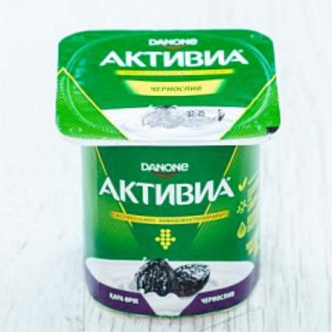 Йогурт АКТИВИЯ Чернослив 120 гр Danone РОССИЯ