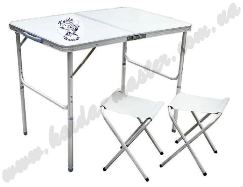 Туристический складной стол - чемодан 90*60 см + 2 стула