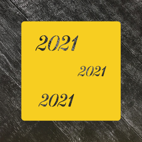 Трафарет новогодний 2021 №3