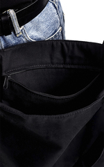 Сумка шоппер с карманом черная