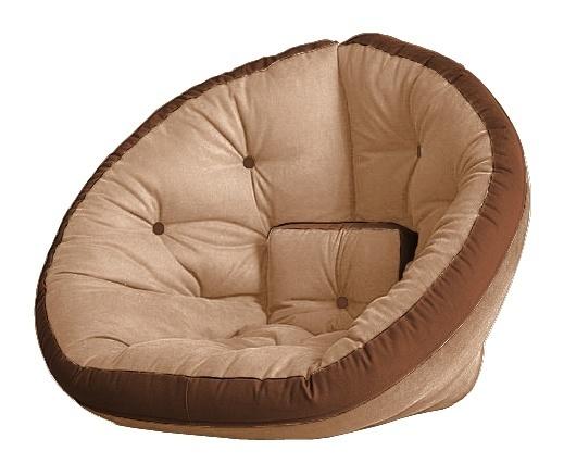 Универсальные кресла Кресло Farla Lounge Бежевое с коричневым tbeg_bro_bro.jpg