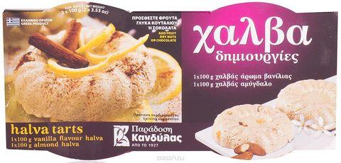 Халва с ванилью и миндалем  Kandylas 2 шт  по 100 гр
