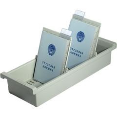 Картотека для трудовых книжек Han А6 на 40 книжек или 1300 карточек (347x128x65 мм, открытая)