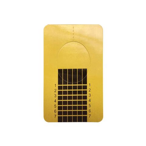 Формы для наращивания ногтей золото (прямые-узкие), 500шт. в рулоне