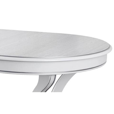 Стол ТРЕНТО 145/95-ОВШ Белый с серебряной патиной / 145(203)х95см