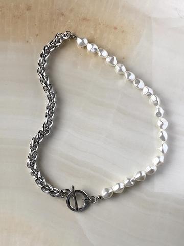 Колье Волара, серебряный цвет