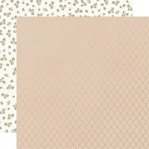 Лист двухсторонней бумаги Simple Stories - HAPPILY EVER AFTER - KISS ME - 30x30