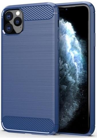 Чехол для iPhone 11 Pro Max цвет Blue (синий), серия Carbon от Caseport
