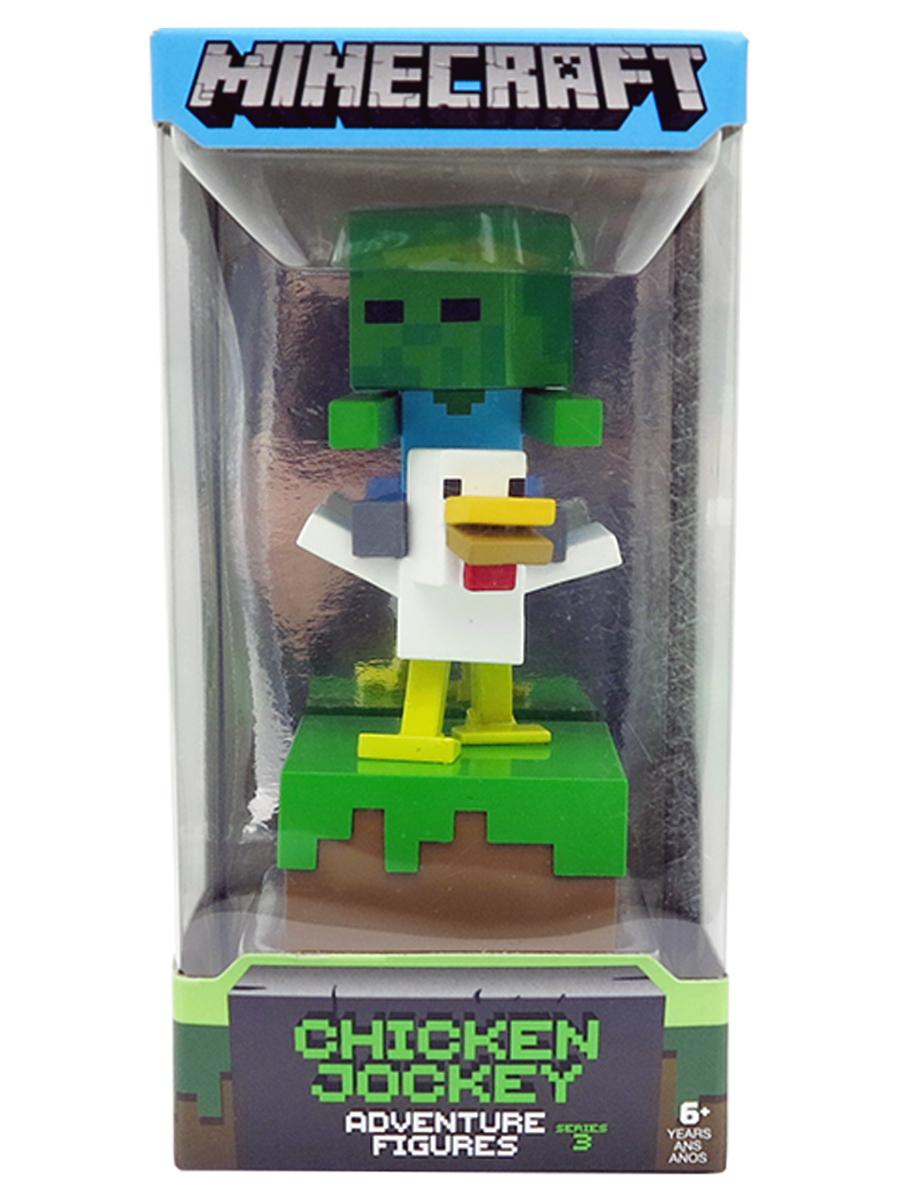 Фигурка Minecraft Adventure Figures серия 3 Zombie Chicken Jockey 10см