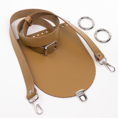 """Комплект для сумочки Орео """"Мёд"""". Ручка через плечо и замок """"Круг микро"""""""
