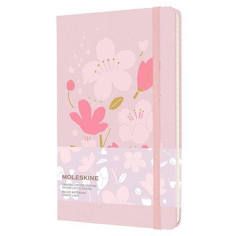 Блокнот Moleskine LE SAKURA (LESU04QP060) 130х210 мм, обложка текстиль, 240 стр. в линейку, розовый