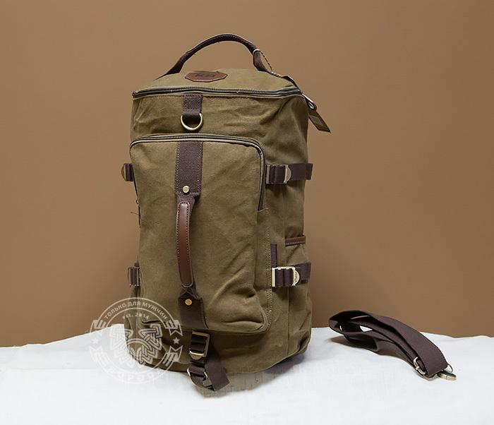 BAG368-2 Стильная и вместительная сумка рюкзак с ремнем на плечо