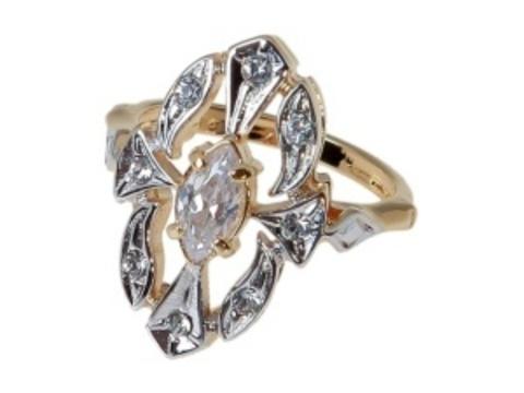 Кольцо с серебрением  Маркиза