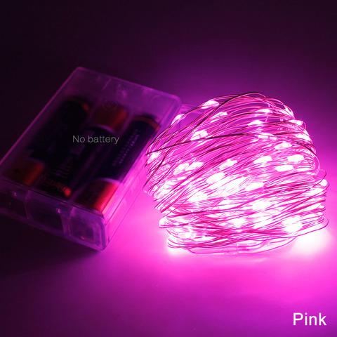 Светодиодная гирлянда розовая на тонкой проволоке лед светодиодная
