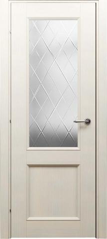 Дверь ДО 3324 (беленый дуб, остекленная CPL), фабрика Краснодеревщик