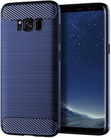 Чехол для Samsung Galaxy S8 Plus цвет Blue (синий), серия Carbon от Caseport