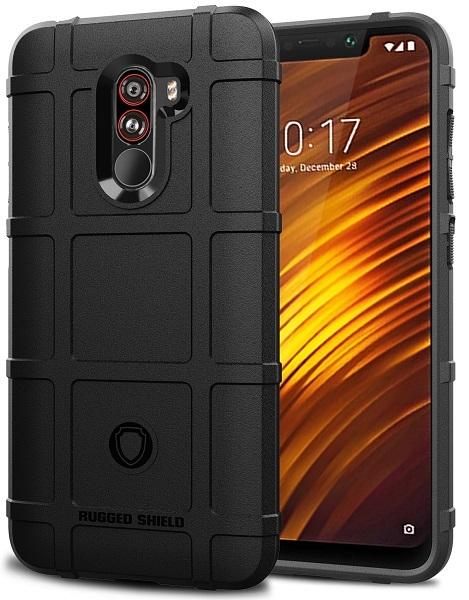 Чехол для Xiaomi Pocophone F1 цвет Black (черный), серия Armor от Caseport