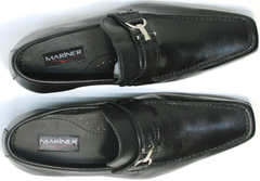 Модные мужские туфли классические без шнурков Mariner 4901 Black.