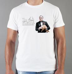 Футболка с принтом Крёстный отец (The Godfather, Корлеоне) белая 06