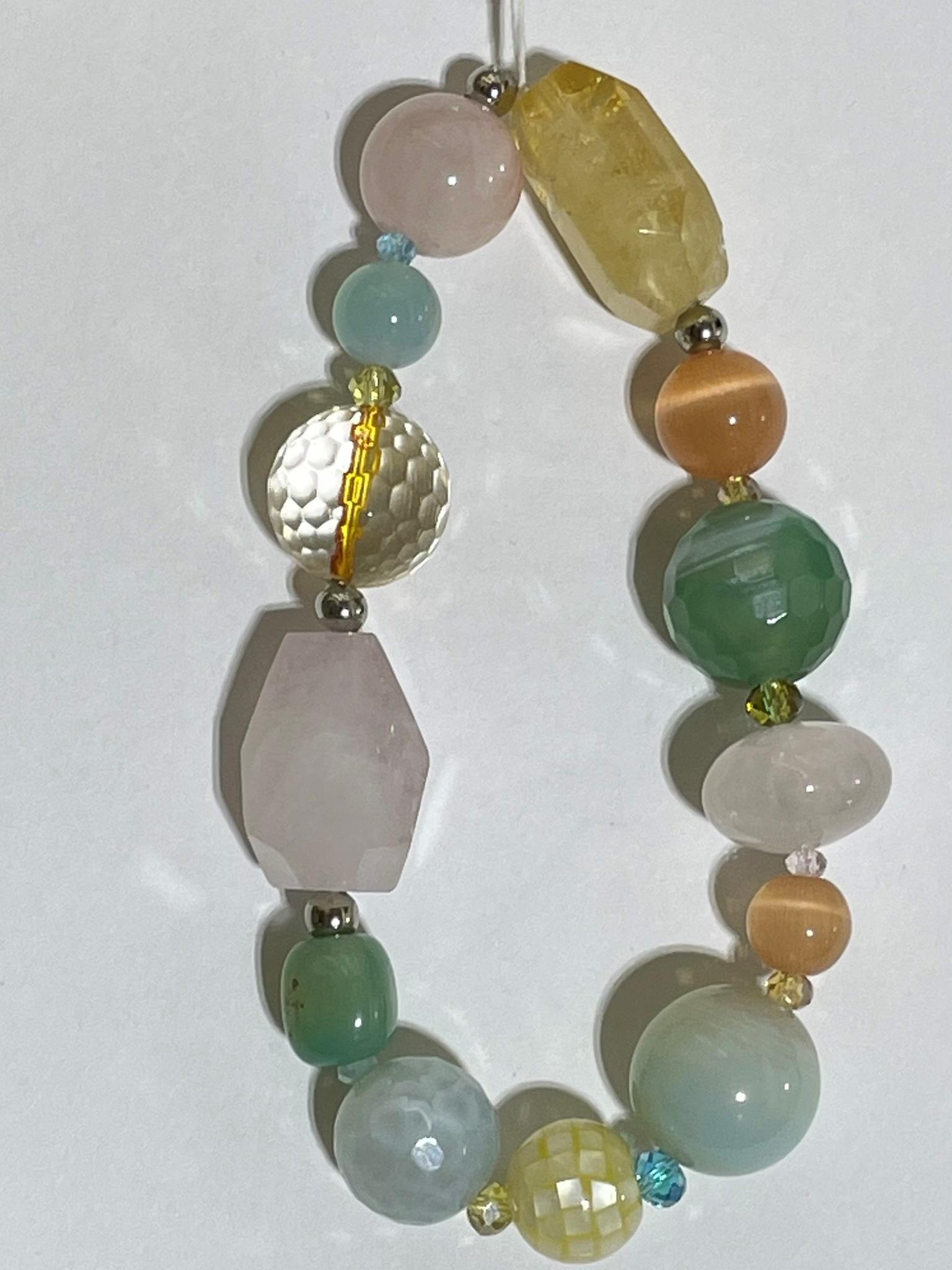 8007-цитрин (браслет из натуральных камней)