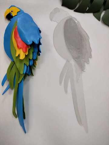 Шаблон из акрила попугай
