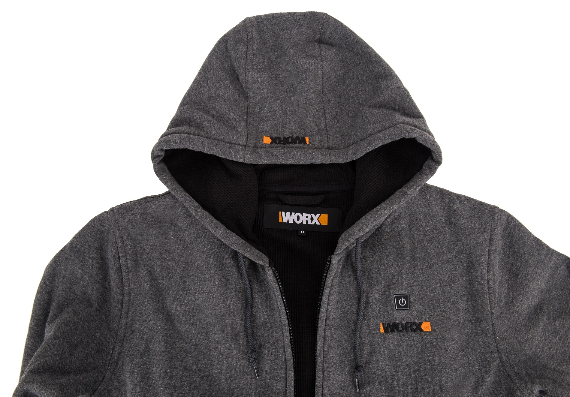 Куртка с подогревом Worx WA4660 3XL темно-серая