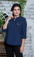 Виктория. Красивая женская блуза. Синий горошек