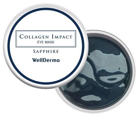 Гидрогелевые патчи (маски) для глаз КОЛЛАГЕН Collagen Impact Eye Mask Sapphire, 60 шт WELLDERMA