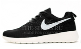 Кроссовки мужские Nike Roshe Run Material Black White