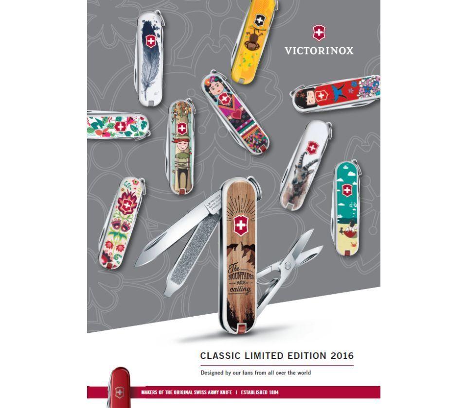 Складной нож-брелок Victorinox Classic LE 2016 Rainforest Walk (0.6223.L1601)