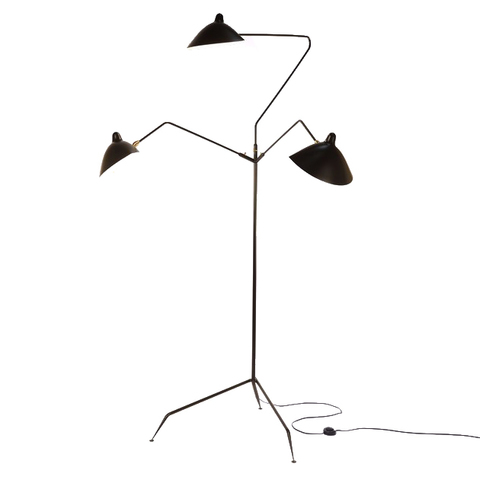 Напольный светильник L3B Three Arms by Serge Mouille