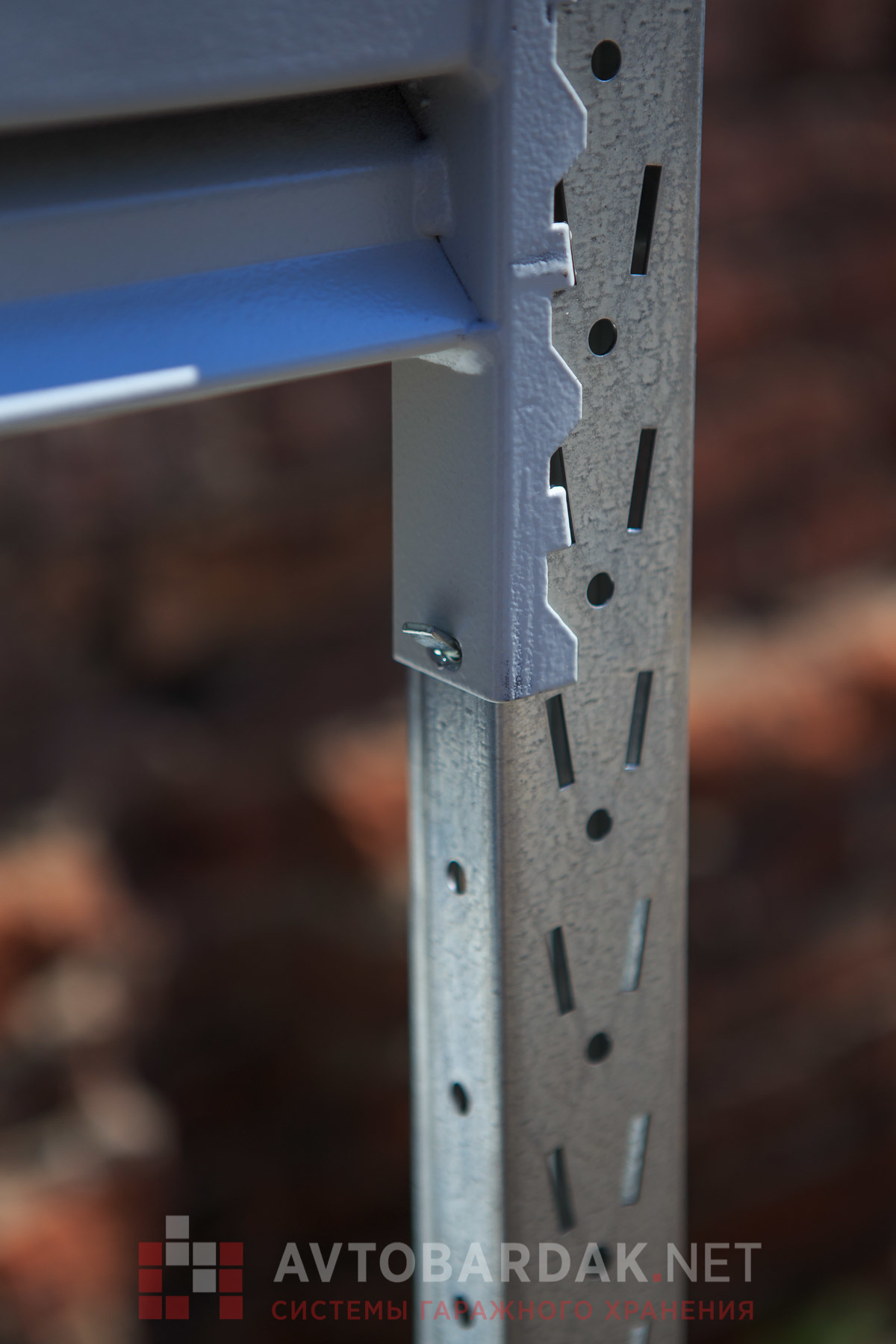 Металлические стеллажи усиленные (глубина 400, высота 1500 мм)