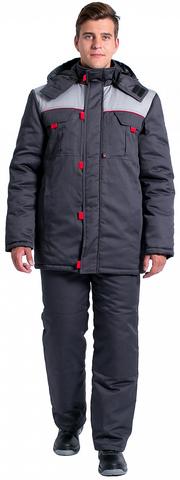 Куртка Фаворит NEW зим. (тк.Балтекс,210), т.серый/серый