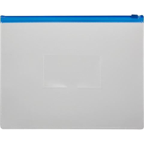 Папка-конверт Attache на молнии А4+ прозрачная 0.16 мм
