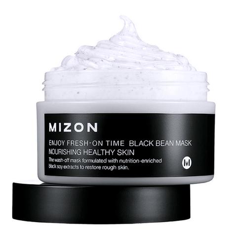 Mizon Антивозрастная маска с черными соевыми бобами Enjoy Fresh On-Time Black Bean Mask 100 мл.