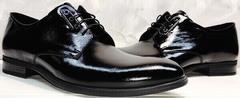 Стильные туфли свадебные мужские лакированные Ikoc 2118-6 Patent Black Leather
