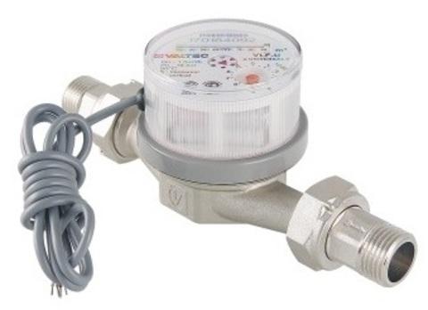 Valtec счётчик воды универсальный ДУ 15 мм, L 80 мм со сгонами, импульсный выход (VLF-15U-I)