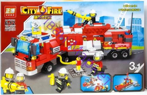 Сити 5515 Пожарная станция 3в1 678 дет Конструктор