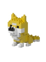 Конструктор Wisehawk Желтая собака 65 деталей NO. 2804-4 Yellow dog Mini blocks