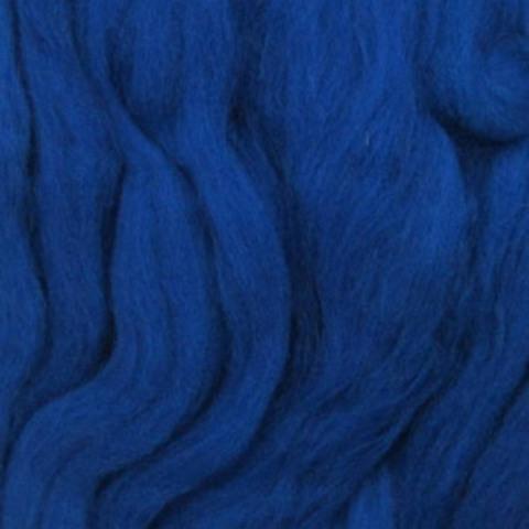 Шерсть для валяния полутонкая 100 Королевский синий