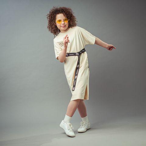 Bb team oversized T-shirt dress for teens - Tofu