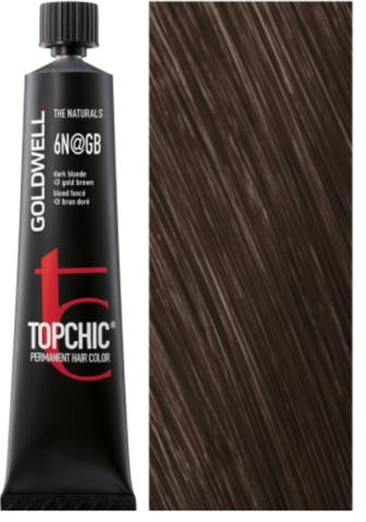 Goldwell Topchic 6N@GB - темный блонд с золотисто-бежевым сиянием (золотая кора) TC 60ml