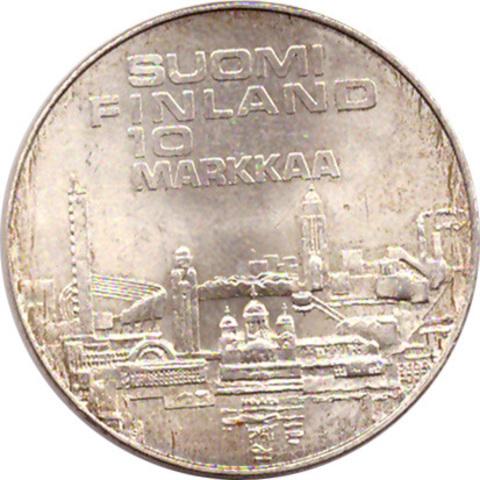 "10 марок 1971 год ""Легкая атлетика"" Финляндия"