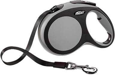 Рулетки Поводок-рулетка Flexi New Comfort L (до 60 кг) лента 5 м черный/серый a7fe41a1-3797-11e6-80f8-00155d29080b.png